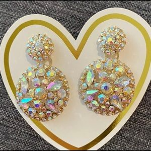 Rhinestone Round Drop - Never been worn